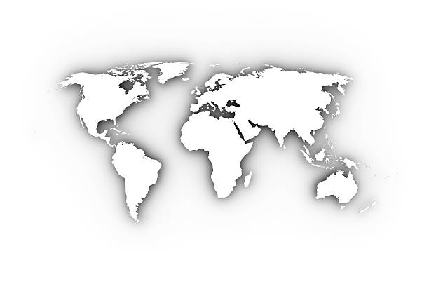 Royalty Free World Map White Pictures, Images and Stock Photos - iStock