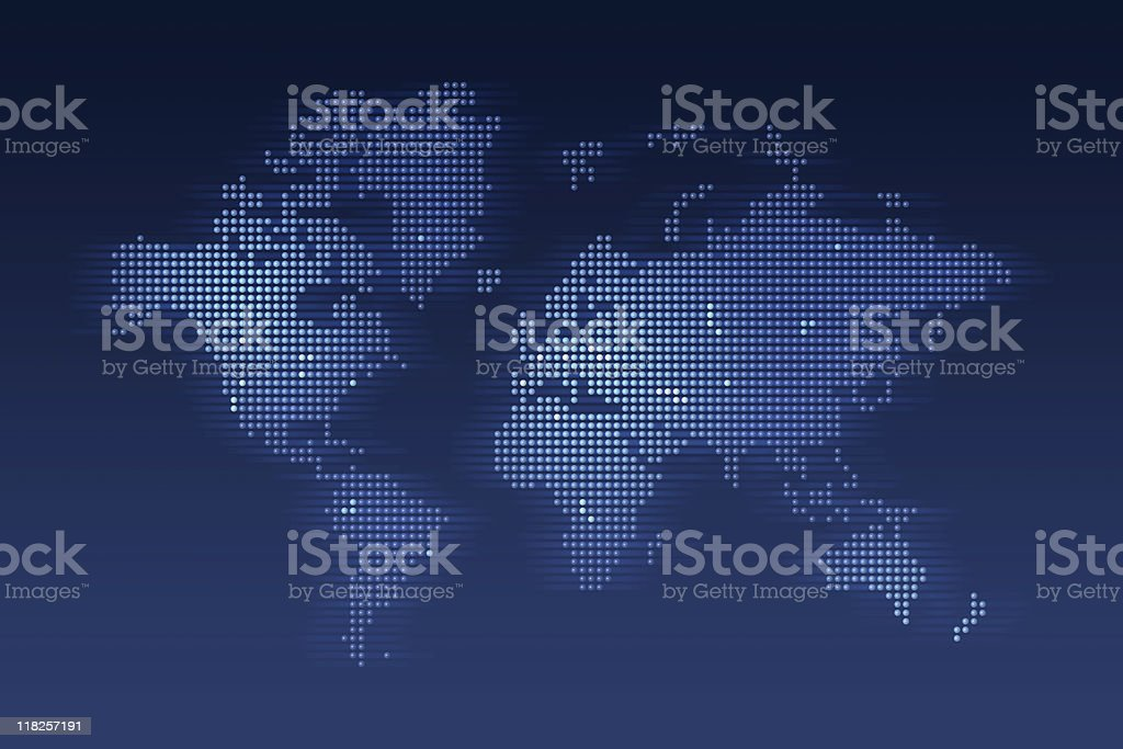World Map made of dots stock photo