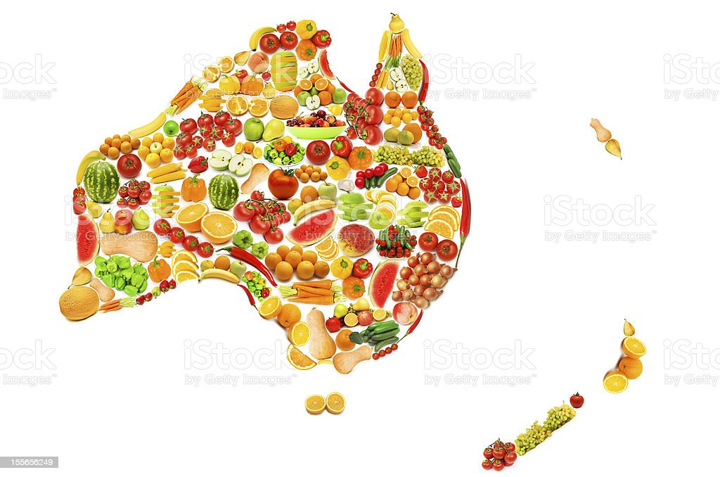 World map made of many fruits and vegetables stock photo more world map made of many fruits and vegetables royalty free stock photo gumiabroncs Choice Image