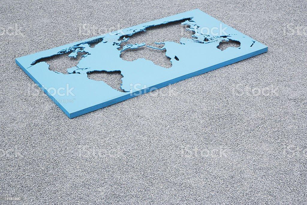 Mapa do Mundo em Gravilha foto de stock royalty-free