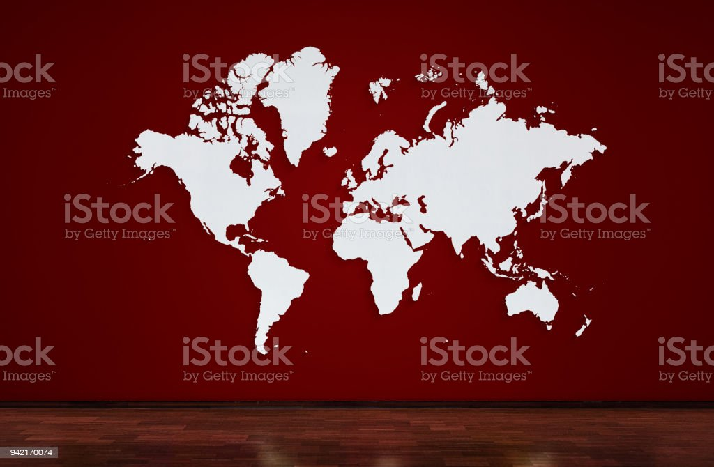 World map on red wall popular world map template wall and wooden oak world map on red wall popular world map template wall and wooden oak floor gumiabroncs Image collections