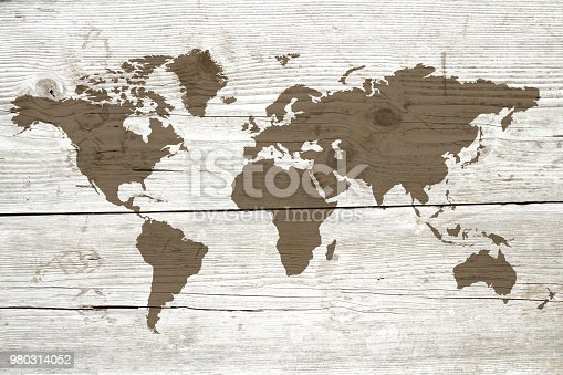 980314112istockphoto World map on the boards 980314052