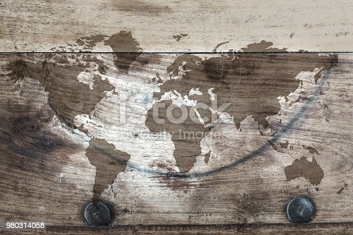 980314112istockphoto World map on the boards 980314058