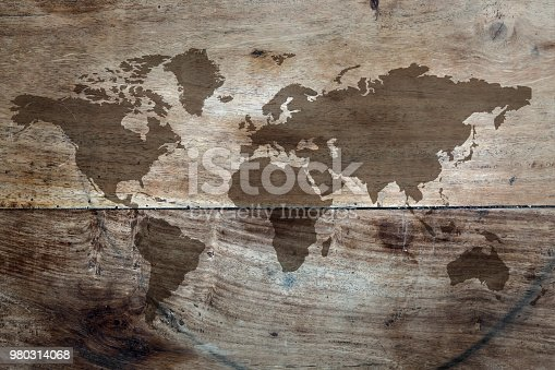 980314112istockphoto World map on the boards 980314068