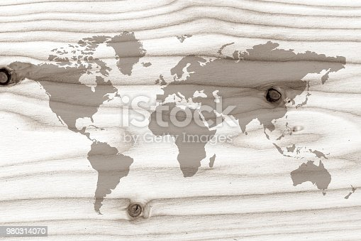 980314112istockphoto World map on the boards 980314070
