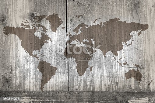 980314112istockphoto World map on the boards 980314076