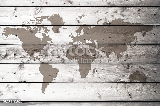980314112istockphoto World map on the boards 980314080