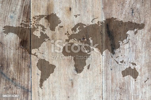980314112istockphoto World map on the boards 980314082
