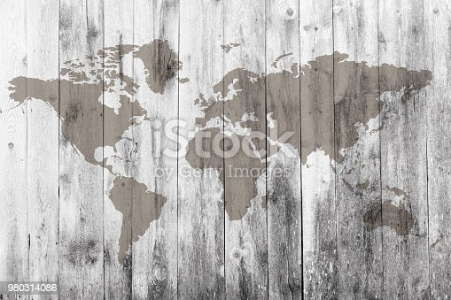 980314112istockphoto World map on the boards 980314086