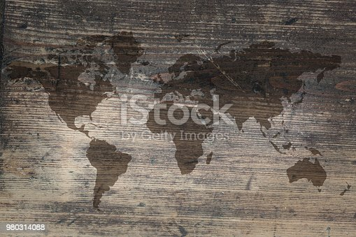 980314112istockphoto World map on the boards 980314088