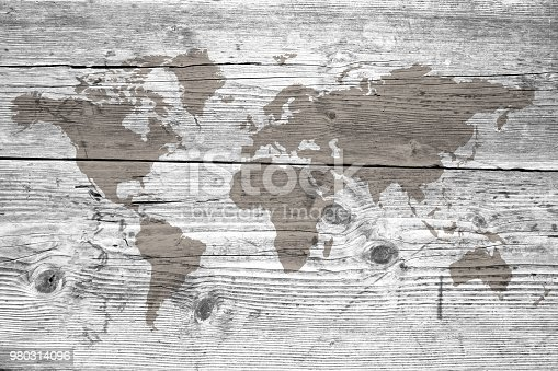 980314112istockphoto World map on the boards 980314096