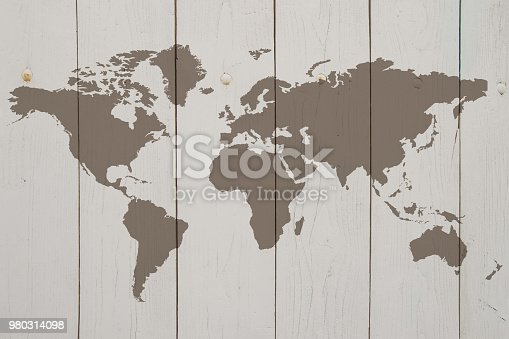 980314112istockphoto World map on the boards 980314098