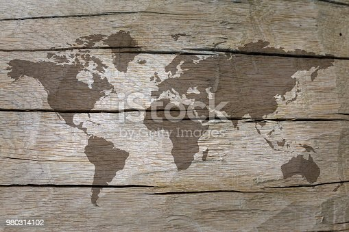 980314112istockphoto World map on the boards 980314102