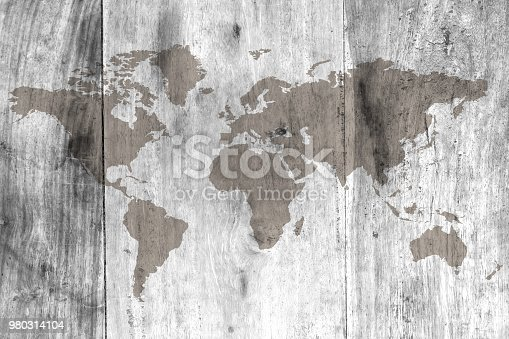 980314112istockphoto World map on the boards 980314104