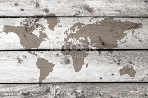 980314112istockphoto World map on the boards 980314114