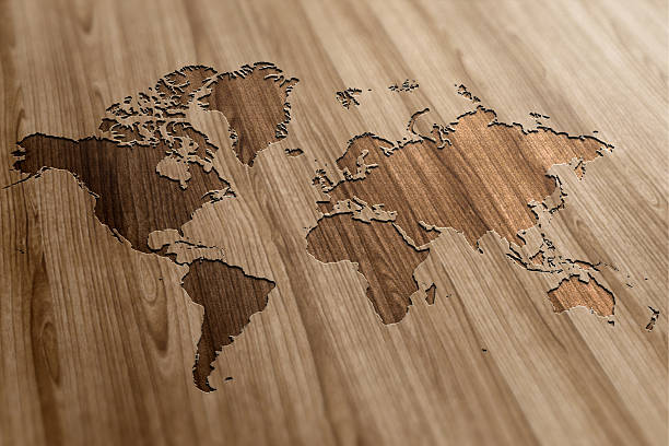 world map regions stock photos