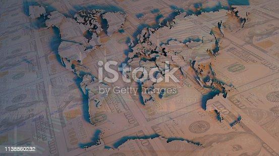 istock World Map 1138860232