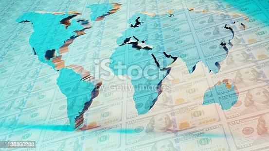 istock World Map 1138860288