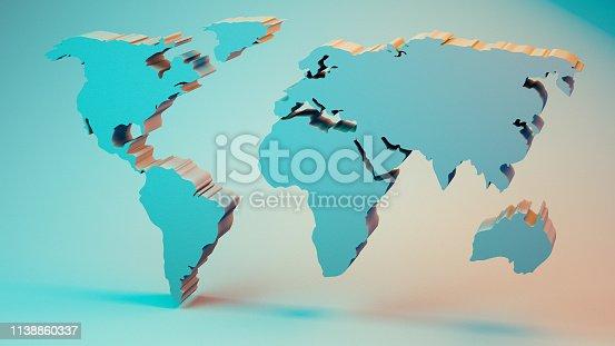 istock World Map 1138860337