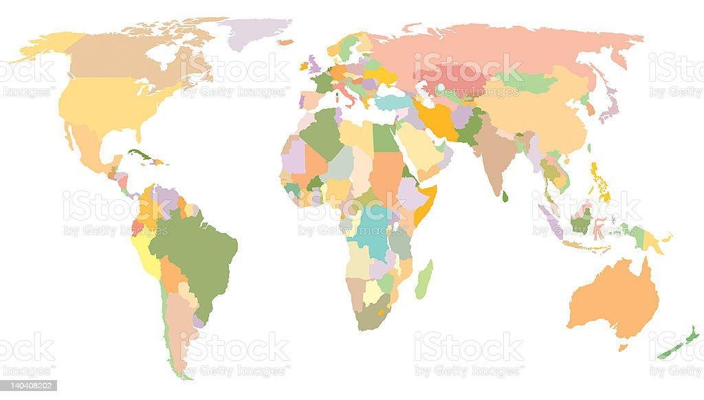 World Map royalty-free stock photo
