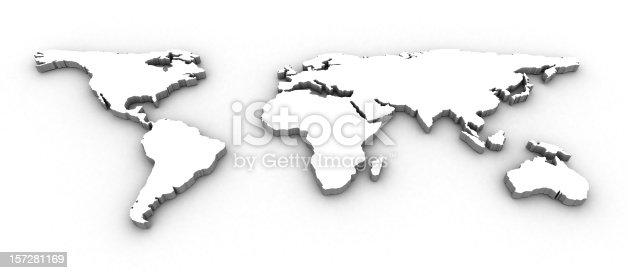 istock 3D World Map 157281169
