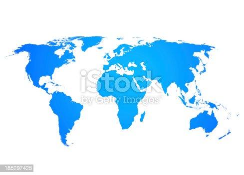 istock World Map 185297425