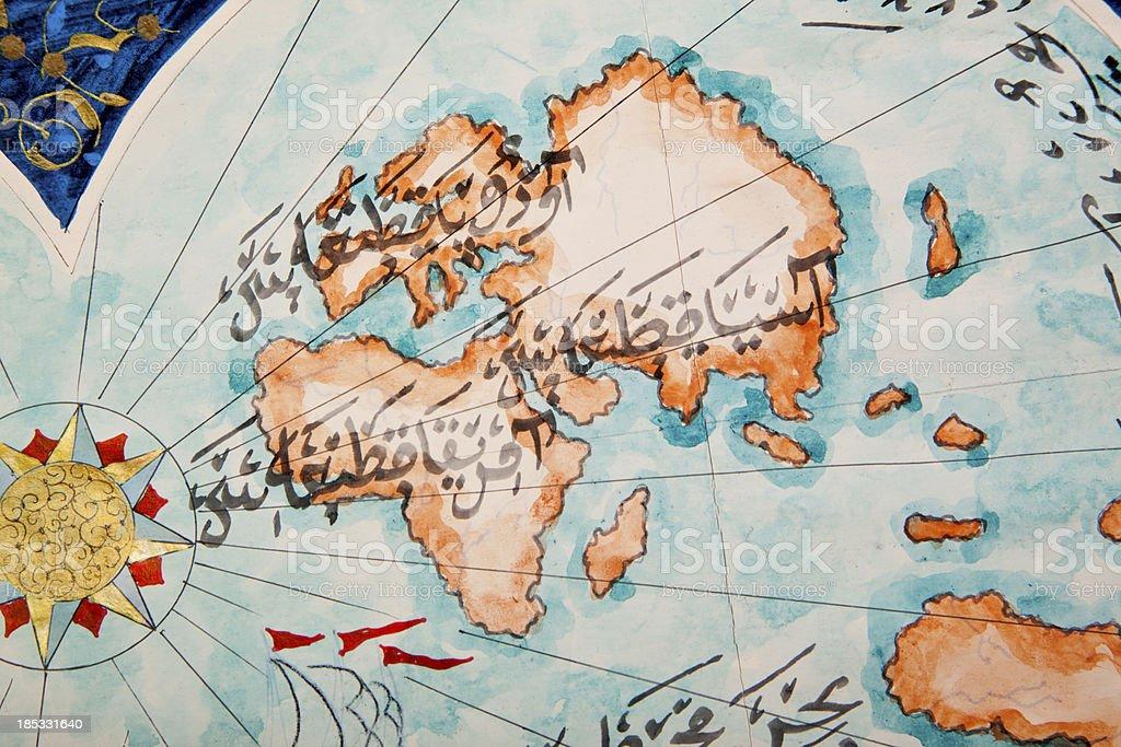 World map stock photo