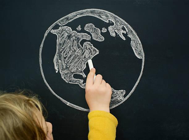 world weltkarte - 5 kontinente stock-fotos und bilder