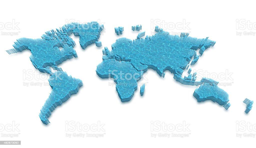 3D world map stock photo