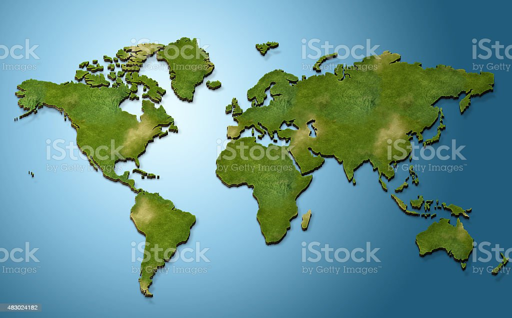 3d world map stock photo more pictures of 2015 istock 3d world map royalty free stock photo gumiabroncs Choice Image