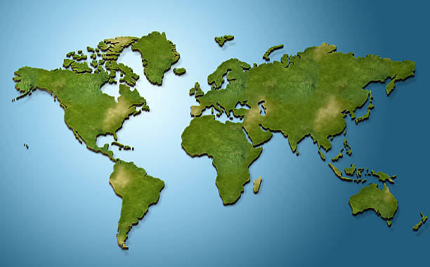 3d world map - intricacy stock pictures, royalty-free photos & images