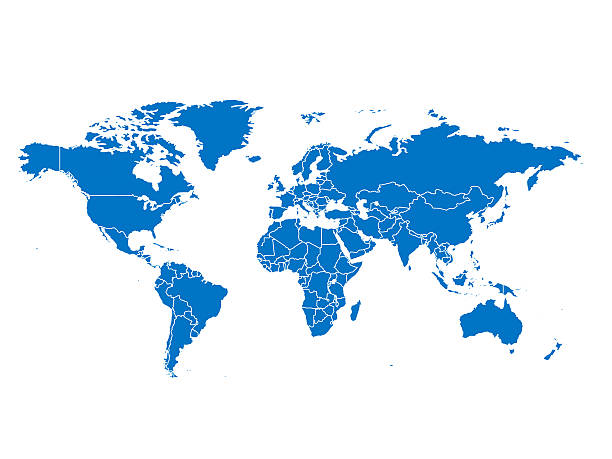 world map - continent geographic area stock photos and pictures