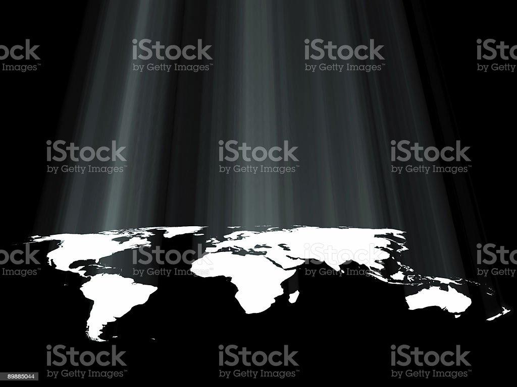 Mapa mundial foto de stock libre de derechos
