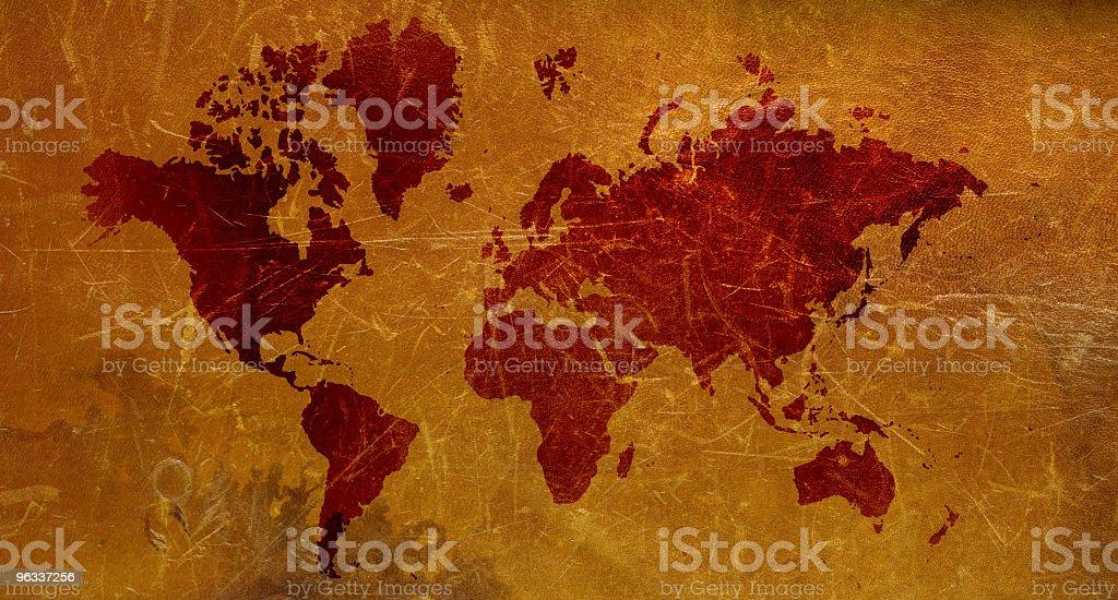 XXL World Map royalty-free stock photo