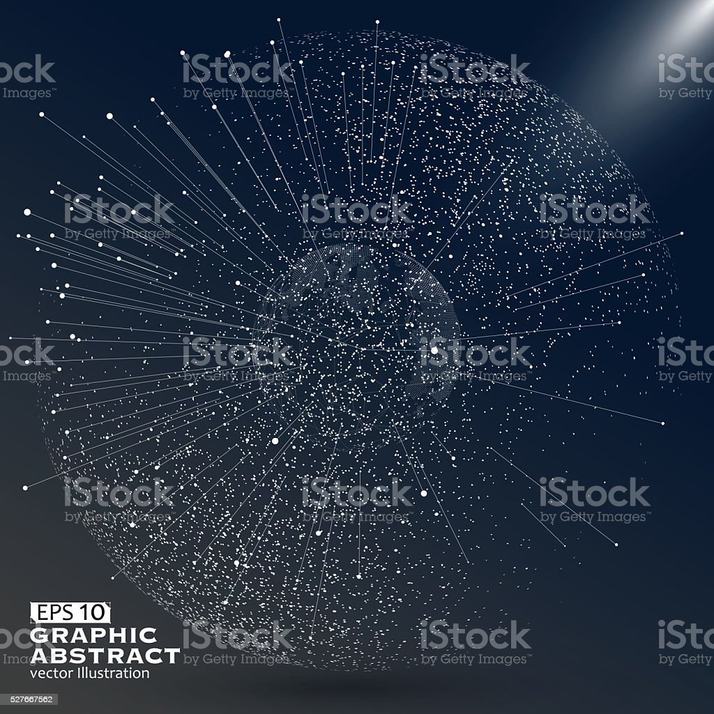 World map point, line, composition, representing the global. stock photo
