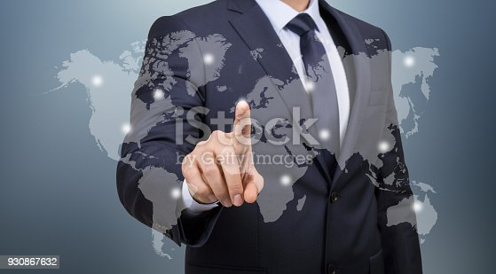 498272366 istock photo World map / Touch screen concept 930867632