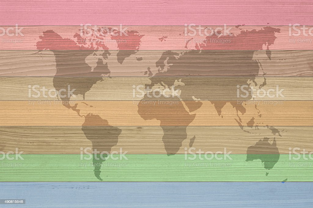 World Map Vintage Pattern Wood Plank Brown Texture Background Stock ...