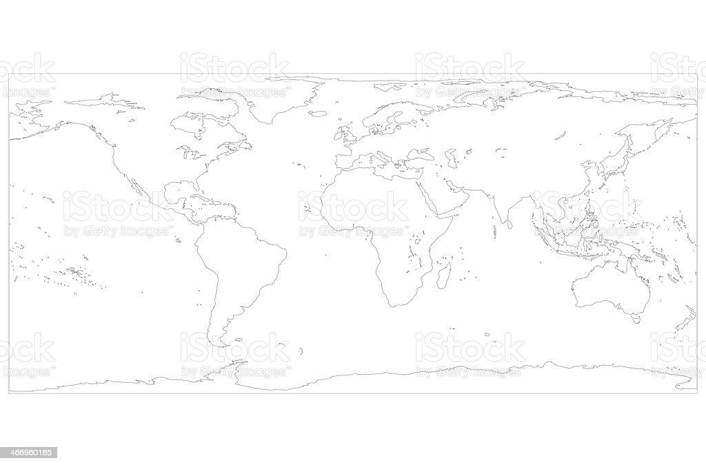 World Map White royalty-free stock photo