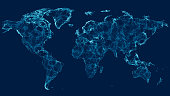 istock World Map With Connections 1278951186