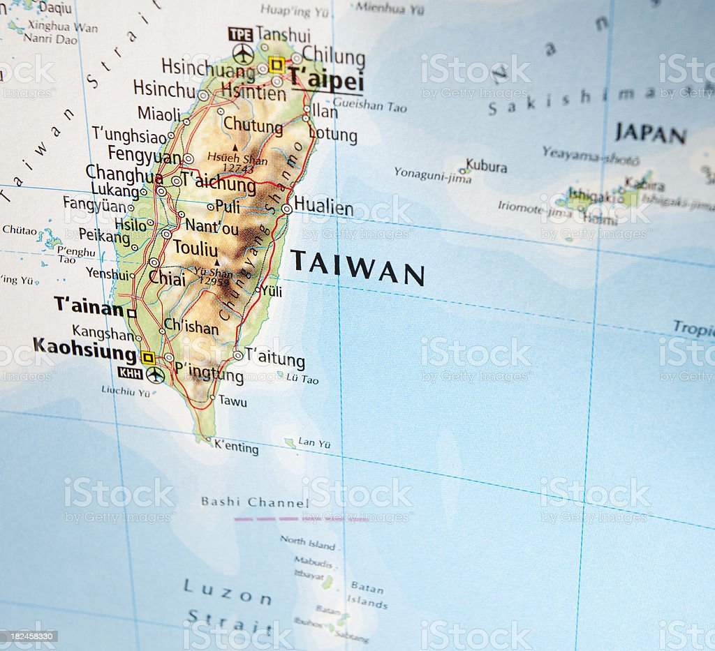 World map with focus on taiwan stock photo more pictures of world map with focus on taiwan royalty free stock photo gumiabroncs Images
