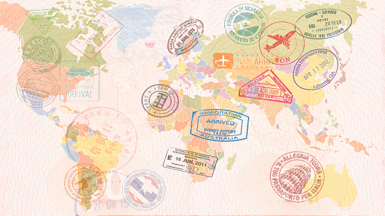world travel map stock photos