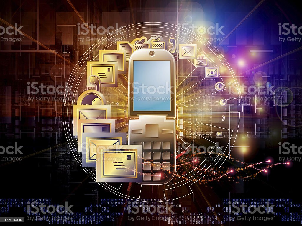 World messaging royalty-free stock photo