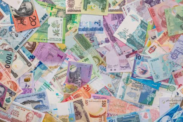 world money as background stock photo