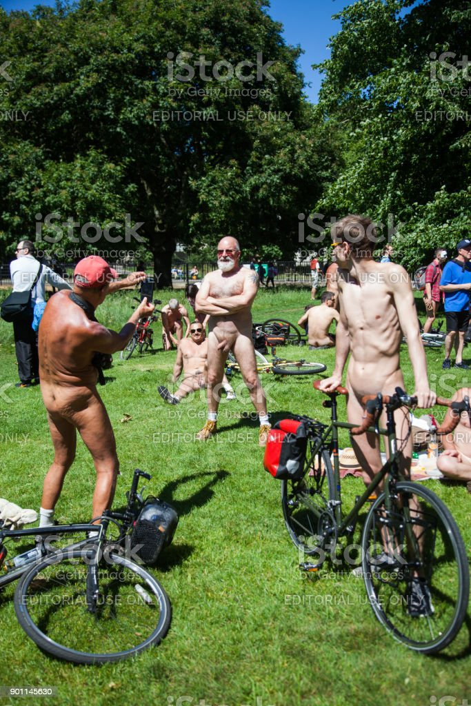 World Naked Bike Ride stock photo