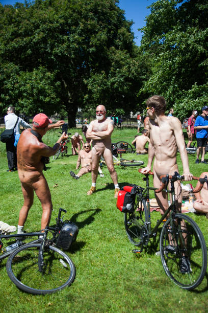 World Naked Bike Ride stock photo