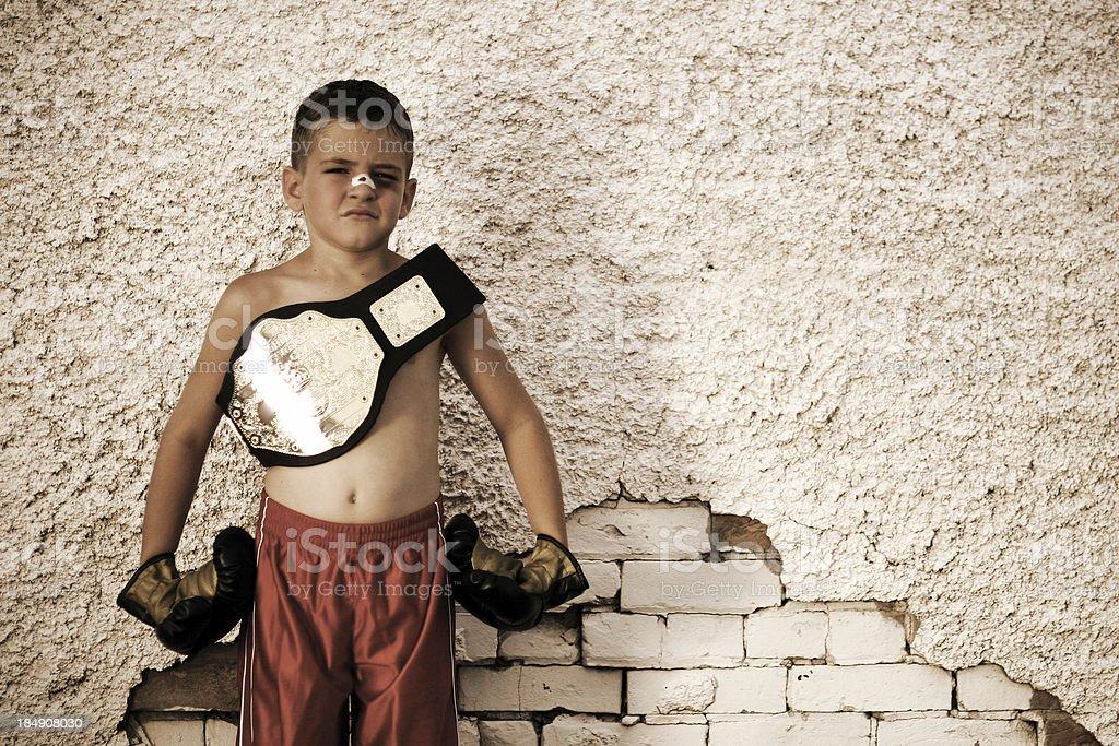 World Nanoweight Champion stock photo