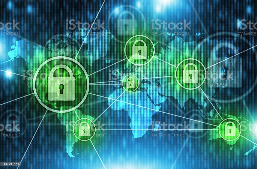 World Network Safety Concept stock photo