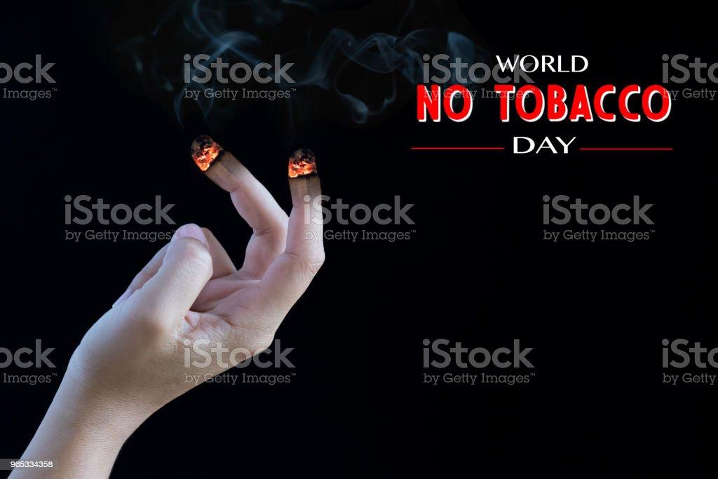 世界無煙日, 5月31日。戒煙。 - 免版稅上癮圖庫照片