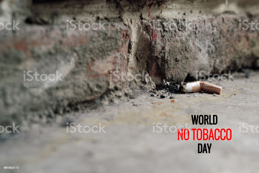 World No Tobacco Day. May 31st No Smoking Day. Poison of cigarette stock photo