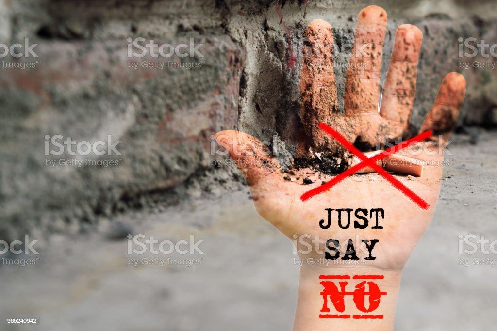 World No Tobacco Day. May 31st No Smoking Day. Poison of cigarette zbiór zdjęć royalty-free
